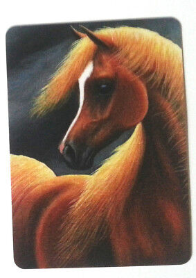 Swap / Playing Card ~ Golden Chesnut Horse  ~ Modern Wide ~Linen
