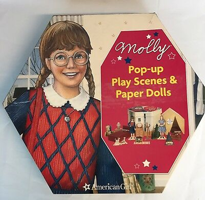 American Girl Molly Pop UP Play Scenes Paper Dolls Box Set