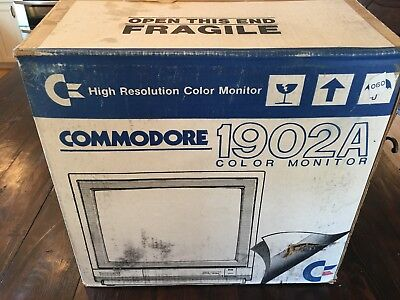RARE Vintage Commodore 1902-A Color Monitor - Tested & Working! in the box