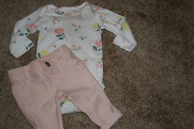 3M Old Navy Carters Girl pastel floral outfit lot