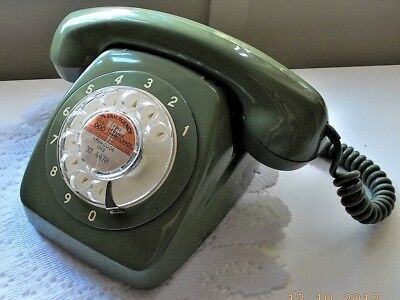 retro ACF Green 801 dial telephone. Reconditioned.