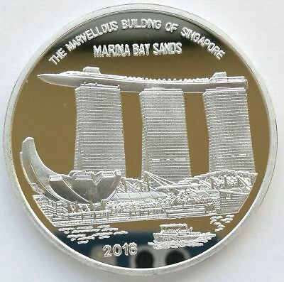 "L3194, Korea ""Marina Bay Sands"" Singapore Fair Alu Coin 2 Won. 2016"