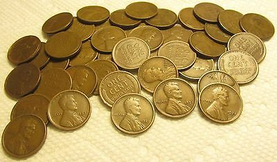 1 Roll Of 1921 S San Francisco Lincoln Wheat Cents From Penny Collection