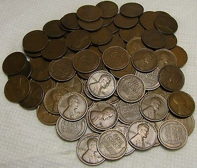 2 Rolls Of 1912 P Philadelphia Lincoln Wheat Cents From Penny Collection