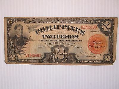 Banknote Philippines Two Pesos Series Of 1936