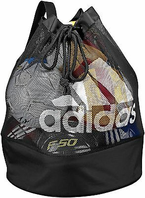 FOOTBALL CARRIER (ADIDAS) HOLDS UP TO 16 SIZE 5 BALLS  (89cm H x 51cm W)