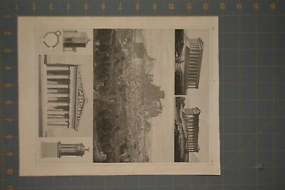 1849 Antique Engraving of Ancient Rome