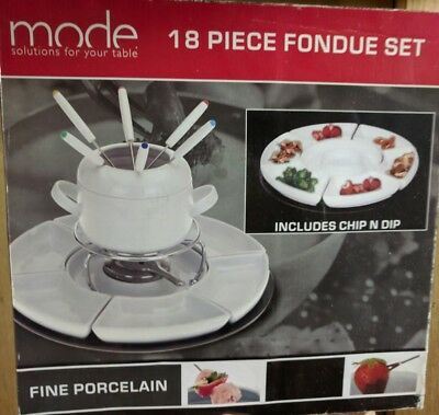 Mode 18 piece fondue set