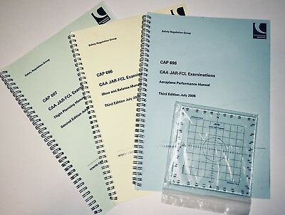 Essential CAP Manuals and AFE Pilot Protractor - ATPL Aviation Theory