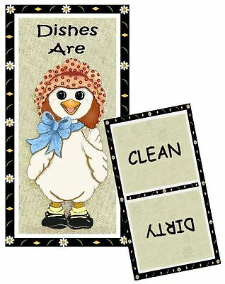 GOOSE - DUCK - DISHWASHER MAGNET - Clean/Dirty - Ship FREE!