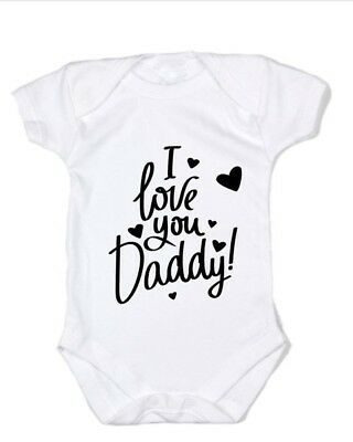 Baby Romper, Baby Bodysuit, One Piece, Baby Clothes, I Love You daddy!