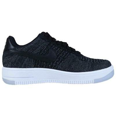 sports shoes 958fb cb8d1 Womens NIKE AF1 FLYKNIT AIR FORCE 1 Black White Low Trainers 820256 001