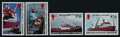 British Antarctic Terr 289-92 MNH Survey Ships, Helicopter, Tractor