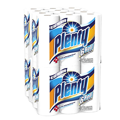 Plenty Ultra Premium Full Sheet Paper Towels with Extra Scrubbing 24 Total Rolls