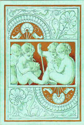 1 Wide Playing Swap Card Square Corner - Sweet Children Cherubs Playing Cards