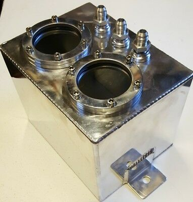 Twin 3 Litre Swirl Pot Fuel Tank Aluminium Bosch 044 Fuel Pump  Drift Rallycross