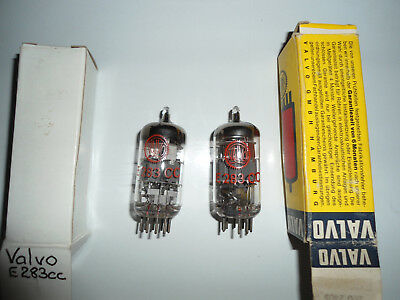 2 x Valvo E283CC   VERY RARE!  AVO tested