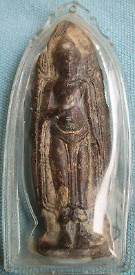 Thai Amulet Lord God after the pattern Lead rust red old Antique collectibles