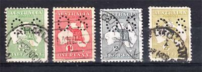 """Kangaroos X 4 Perf Small """"os"""" First Watermark Used (H63)"""