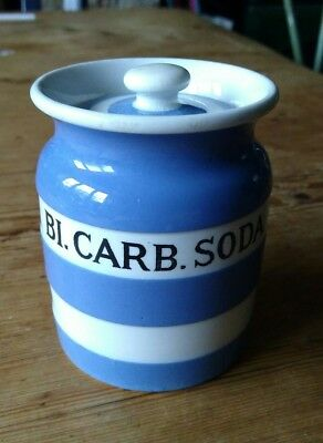 TG Green Cornishware Bi.carb.soda spice jar