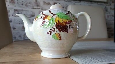 "Maling ""Autumn Leaves"" Lustreware Teapot Made for Ringtons 1950's Vintage. 995"