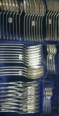 Grand Complete Antique Mappin Webb Canteen Cutlery 8 settings Old English 10 pic