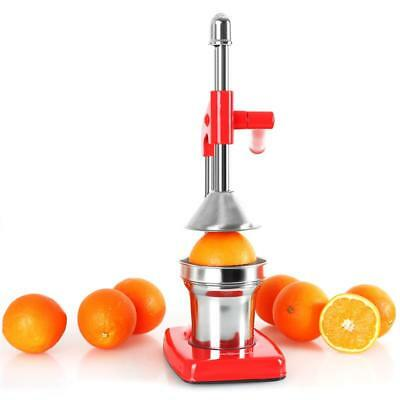 Oneconcept Ecojuicer Fresh Fruit Juice Press Manual Lever Action Red