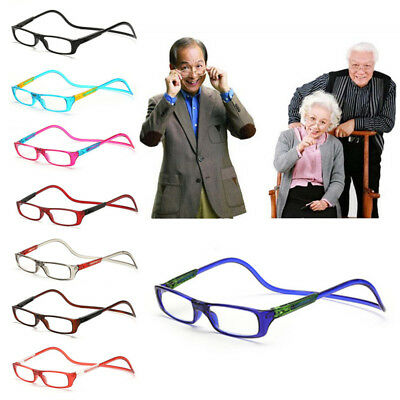 Magnetic Reading Glasses 8 Colors Readers Easy Hang Neck +1.0~+4.0 Hanging Front