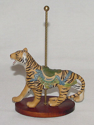 "PERFECT 1988 Franklin Mint ""CAROUSEL"" Porcelain TIGER Figurine!"