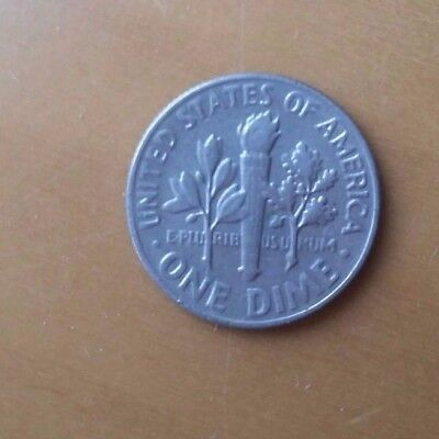 1965 liberty one dime coin