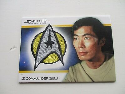 star trek tradiing cards patch Lt commader sulu pc6