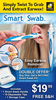 Smart Swab Ear Wax Cleaner x 16