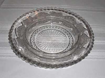 Antique Glass Candy / Trinket Dish - Scalloped - 1930s/1940s