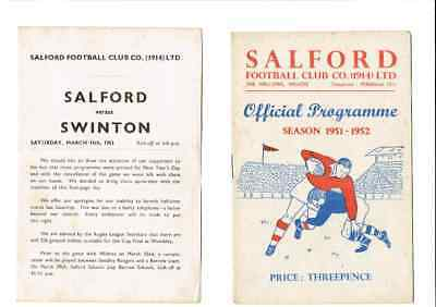 SALFORD v. SWINTON 1.1.52  PLUS INSERT FOR REARRANGED  FIXTURE 15 MARCH 1952