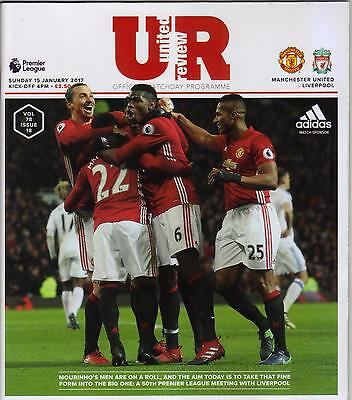 2016/17   Manchester United  v  Liverpool    MINT  +  T/S