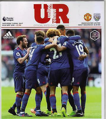 2016/17    Manchester United  v  West Bromwich Albion    MINT  +  T/S