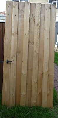 Single Wooden  Paling Gate With Steel Frame,hinges