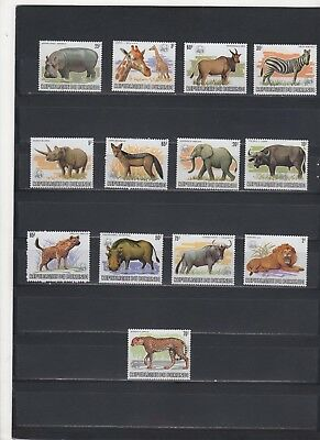 1983 Burundi animals fauna of Africa 13 stamps **