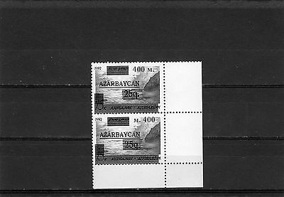 1994 Azerbaijan Caspian Sea both kinds of overprints in the coupling 400 m and m