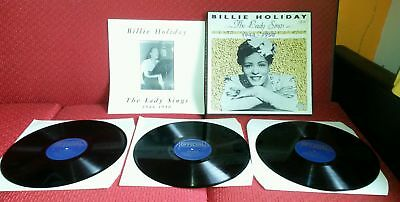 3 LPs BILLIE HOLIDAY THE LADY SINGS 1944-1950