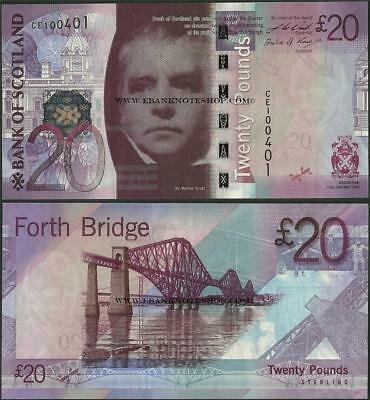 Scotland,P126,20 Pounds,2009,Bank of Scotland,UNC,W Scott/ Forth Bridge@ EBS