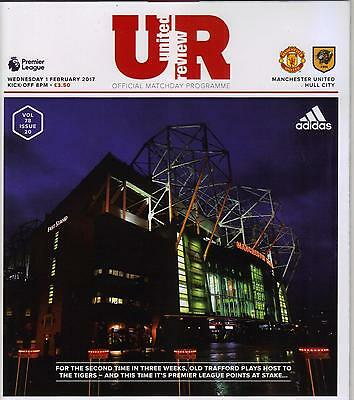2016/17   Manchester United  v  Hull City   MINT  +  T/S  +  Menu + Match Report