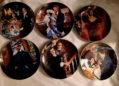 1989 Gone With Wind 50th Anniversary  Collector Plates Lot of 6