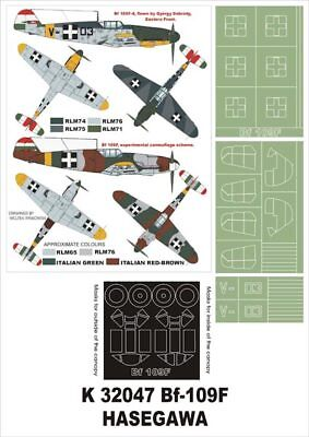 Bf109F-4 Montex Super Mask K32047 1/32 For Hasegawa+Aires2002