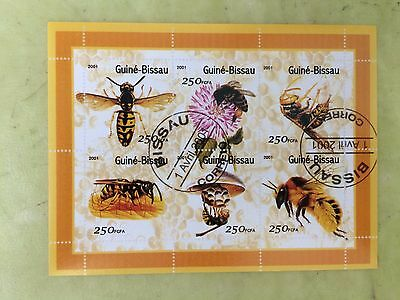 stamp guinè-bissau 2001 Wasps and Bees