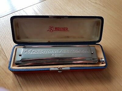 Vintage Hohner 1950's Chromonica 4 Chromatic Harmonica 280C, 16 hole cross tuned