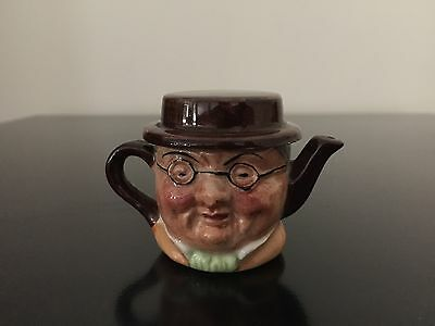 Vintage Ceramic Mr Pickwick miniature Tea pot Artone