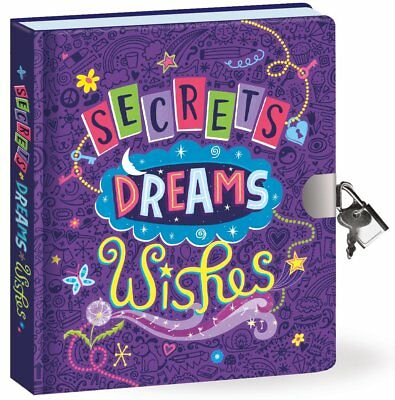 Kids Girls Diary Glow in the Dark Lock and Key Dreams thoughts Journal Notebook