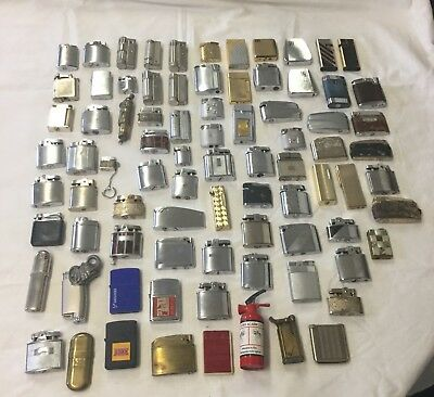 Job lot of 80+ vintage lighters