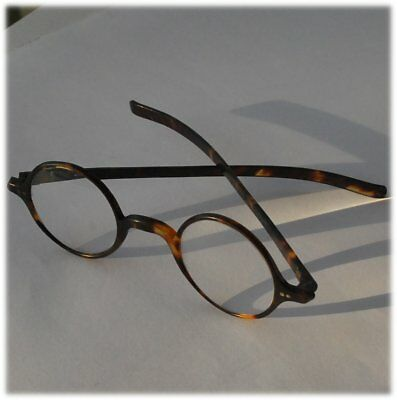 Vintage Leighton Faux tortoise shell spectacles glasses Distance lenses round